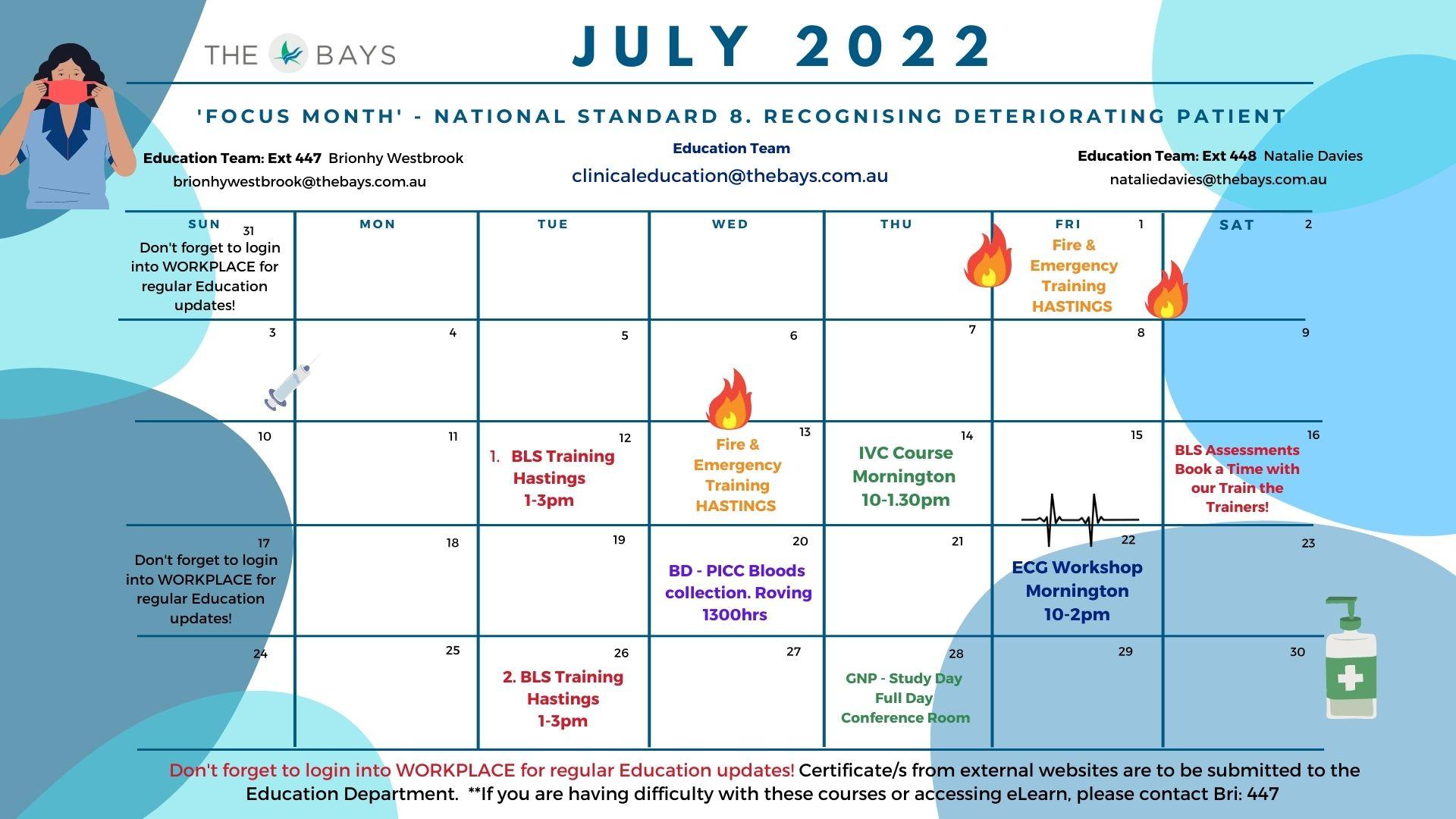 June Education Calendar