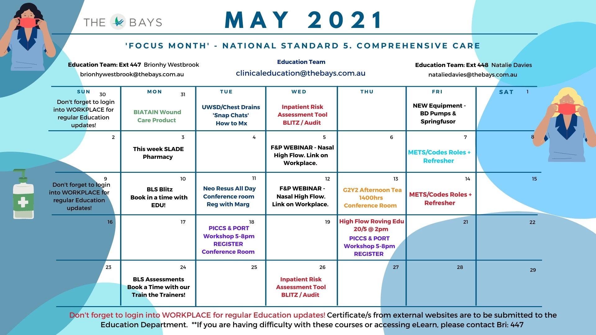 May Education Calendar